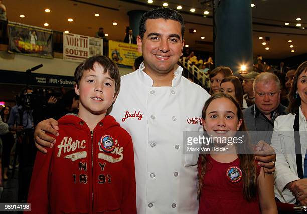 Matthew Laforest Pastry Chef/ TV personality Buddy Valastro and Madeline Lafores kickoff National Train Day festivities at NYC's Penn Station...
