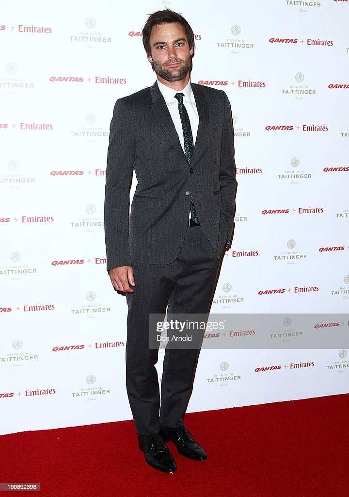 Matthew Le Nevez attends the QANTAS Gala Dinner at Sydney Domestic Airport on April 18, 2013 in Sydney, Australia.