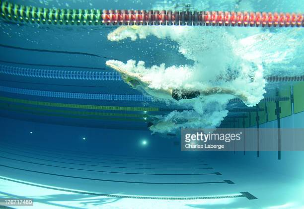 Matthew Levy of Australia competes in the Men's 50M Butterfly S7 Final during day six of the IPC Swimming World Championship at Parc Jean Drapeau on...
