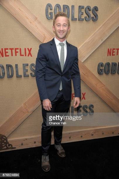 Matthew Lewis attends 'Godless' New York premiere at The Metrograph on November 19 2017 in New York City