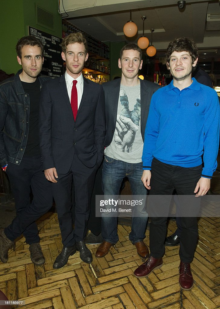 Matthew Lewis Luke Treadaway Gerard Kearns and Iwan Rheon attend the launch party for The Rise on September 19 2013 in London England