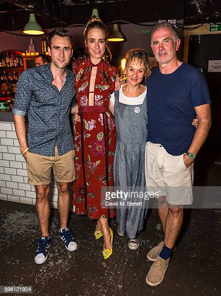 Matthew Lewis Ruta Gedmintas Niamh Cusack and Sean Campion attend the press night/afterparty for 'Unfaithful' on August 31 2016 in London England