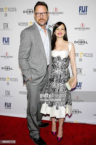 Matthew Lillard and Carla Gugino attend the 'MATCH' Cast PrePremiere Party At Supper Suite By STK Hosted With Fiji Water And Dobel Tequila on April...