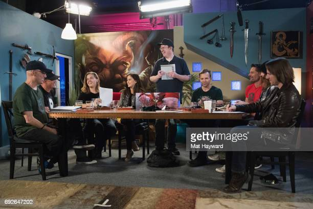 Matthew Lillard Dylan Sprouse and Joe Manganiello help unveil the new Dungeons Dragons storyline 'Tomb of Annihilation' during a live streaming event...