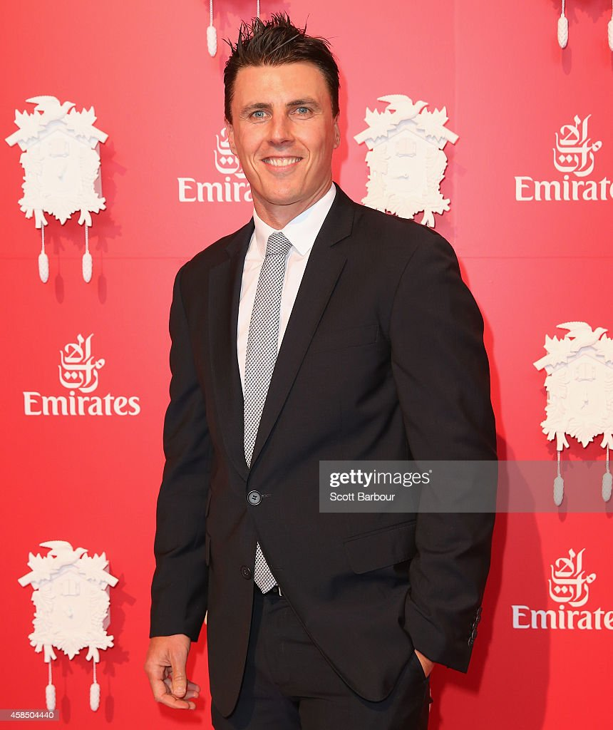<a gi-track='captionPersonalityLinkClicked' href=/galleries/search?phrase=Matthew+Lloyd&family=editorial&specificpeople=171673 ng-click='$event.stopPropagation()'>Matthew Lloyd</a> at the Emirates Marquee on Oaks Day at Flemington Racecourse on November 6, 2014 in Melbourne, Australia.