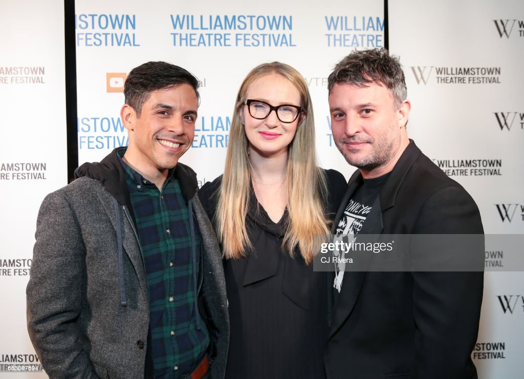 Matthew Lopez, Halley Feiffer, and Trip Cullman attend 2017 Williamstown Theatre Festival Gala at TAO Downtown on March 13, 2017 in New York City.