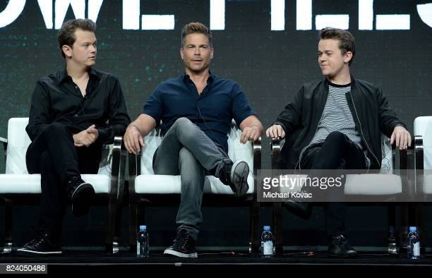 Matthew Lowe executive producer Rob Lowe John Owen Lowe of 'The Lowe Files ' speak onstage during the AE Networks portion of the 2017 Summer...