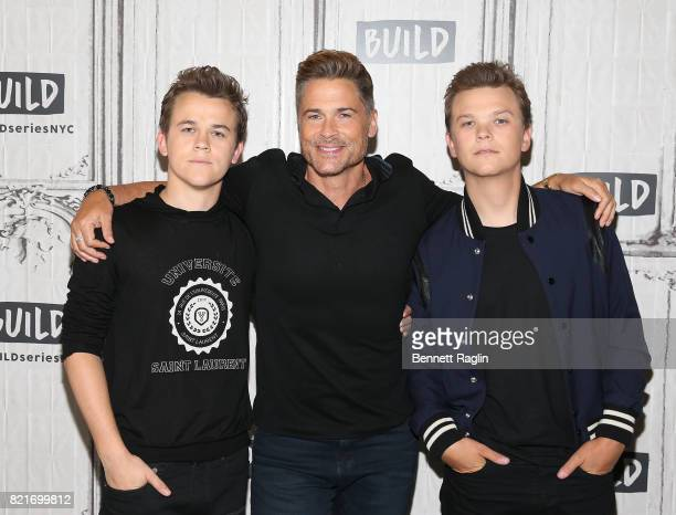 Matthew Lowe Rob Lowe and John Owen Lowe attend Build to discuss 'The Lowe Files' at Build Studio on July 24 2017 in New York City