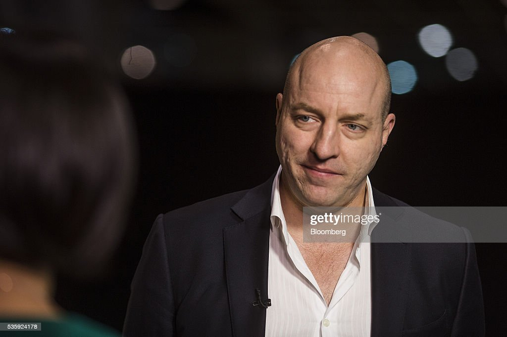 Matthew Matt Barrie, chairman and chief executive officer of Freelancer Ltd., listens during a Bloomberg Television interview at the Rise conference in Hong Kong, China, on Tuesday, May 31, 2016. The conference runs through June 2. Photographer: Justin Chin/Bloomberg via Getty Images