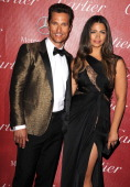 Matthew McConaughey and Camila Alves arrives at the 25th Annual Palm Springs International Film Festival Awards Gala at Palm Springs Convention...
