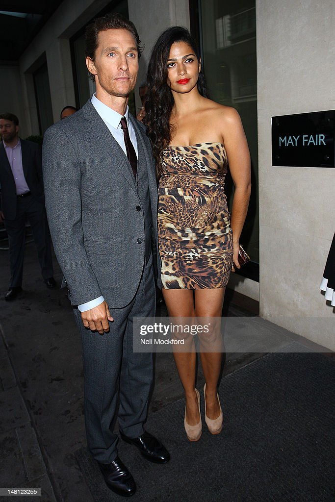 Matthew McConaughey and Camila Alves arrives for the Magic Mike - European Premiere at The May Fair Hotel at The Mayfair Hotel on July 10, 2012 in London, England.