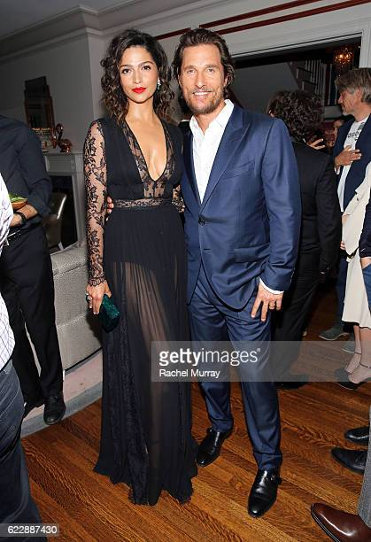 Matthew McConaughey and Camila Alves attend as The Weinstein Company celebrates the cast and filmmakers of 'Sing Street' 'Lion' 'The Founder' and...
