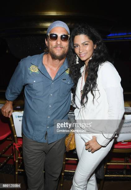 Matthew Mcconaughey and Camila Alves attend Duran Duran Performing Live For SiriusXM At The Faena Theater In Miami Beach During Art Basel on December...
