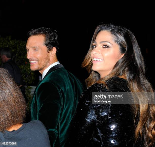 Matthew McConaughey and Camila Alves attend NBC Universal's 71st Annual Golden Globe Awards After Party at The Beverly Hilton Hotel on January 12...