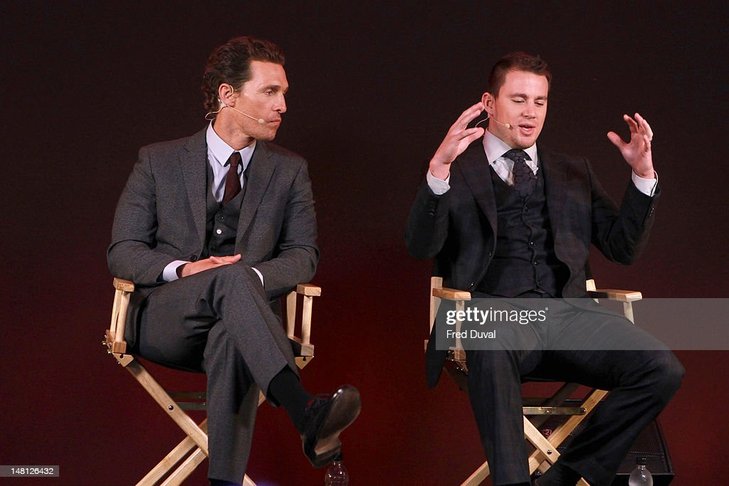 Matthew McConaughey and Channing Tatum promote their new film 'Magic Mike' at Apple Store, Regent Street on July 10, 2012 in London, England.