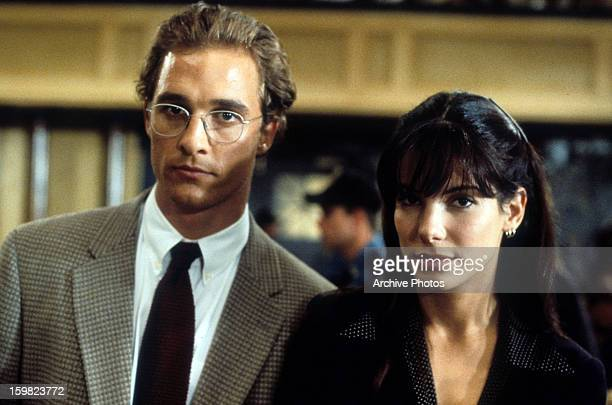 Matthew McConaughey and Sandra Bullock in a scene from the film 'A Time To Kill' 1996