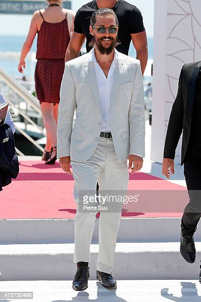 Matthew McConaughey at the Majestic Hotel Beach during the 68th annual Cannes Film Festival on May 17 2015 in Cannes France