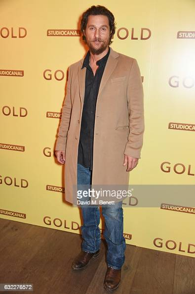 Matthew McConaughey attends a special screening of 'Gold' at The Ham Yard Hotel on January 20 2017 in London England