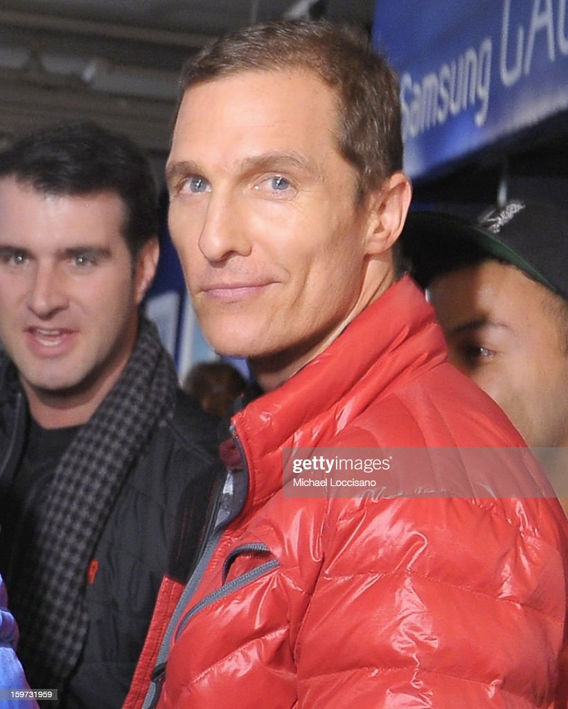 <a gi-track='captionPersonalityLinkClicked' href=/galleries/search?phrase=Matthew+McConaughey&family=editorial&specificpeople=201663 ng-click='$event.stopPropagation()'>Matthew McConaughey</a> attends Day 2 of Samsung Galaxy Lounge at Village At The Lift 2013 on January 19, 2013 in Park City, Utah.