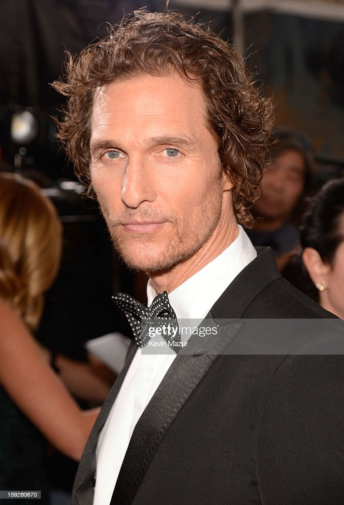 Matthew Mcconaughey attends the 18th Annual Critics' Choice Movie Awards at The Barker Hanger on January 10, 2013 in Santa Monica, California.