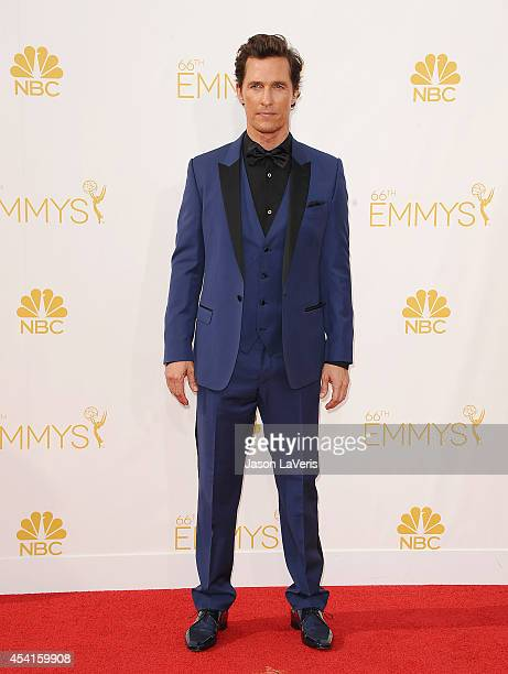 Matthew McConaughey attends the 66th annual Primetime Emmy Awards at Nokia Theatre LA Live on August 25 2014 in Los Angeles California