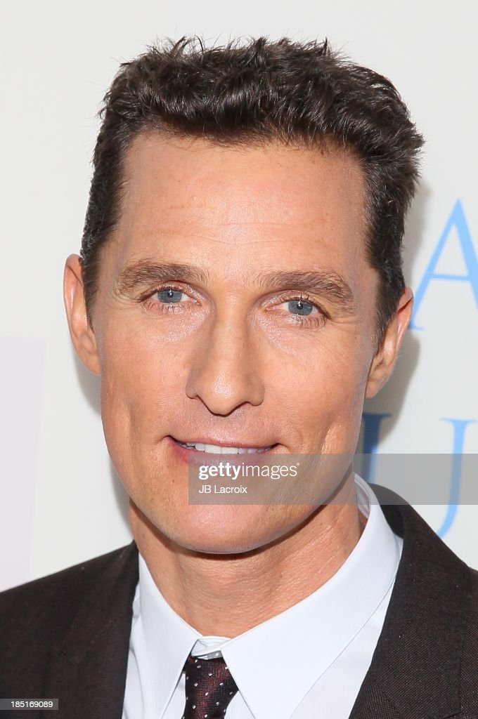 <a gi-track='captionPersonalityLinkClicked' href=/galleries/search?phrase=Matthew+McConaughey&family=editorial&specificpeople=201663 ng-click='$event.stopPropagation()'>Matthew McConaughey</a> attends the 'Dallas Buyers Club' Los Angeles premiere held at the Academy of Motion Picture Arts and Sciences on October 17, 2013 in Beverly Hills, California.