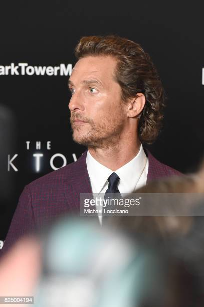 Matthew McConaughey attends 'The Dark Tower' New York Premiere on July 31 2017 in New York City