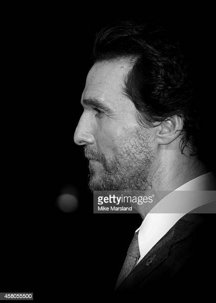 Matthew McConaughey attends the European premiere of 'Interstellar' at Odeon Leicester Square on October 29 2014 in London England