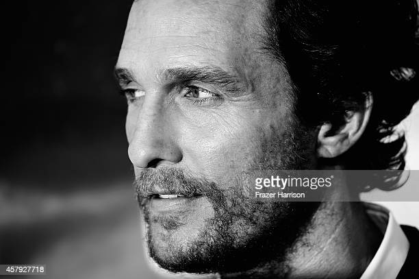 This image has been converted from color to B/W Matthew McConaughey attends the premiere of Paramount Pictures' 'Interstellar' at TCL Chinese Theatre...