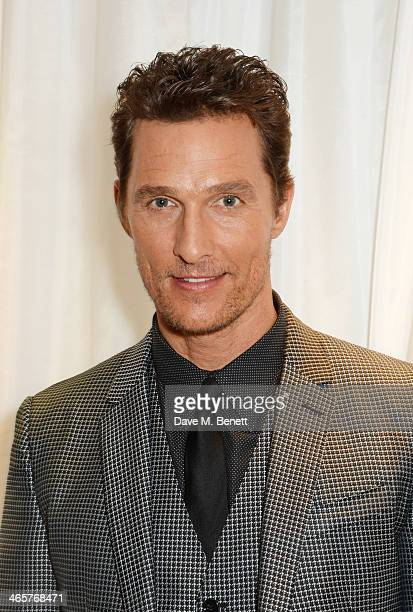 Matthew McConaughey attends the UK Premiere of 'Dallas Buyers Club' at The Washington Hotel on January 29 2014 in London England
