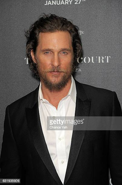 Matthew McConaughey attends the world premiere of 'Gold' hosted by TWCDimension at AMC Loews Lincoln Square 13 theater on January 17 2017 in New York...