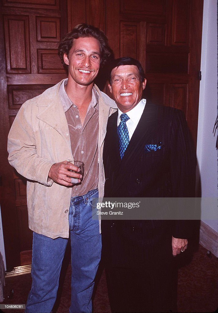 <a gi-track='captionPersonalityLinkClicked' href=/galleries/search?phrase=Matthew+McConaughey&family=editorial&specificpeople=201663 ng-click='$event.stopPropagation()'>Matthew McConaughey</a> & Chi Chi Rodriguez during 1997 Lexus Challenge After Party at La Quinta Resort & Club in La Quinta, California, United States.