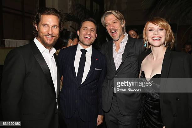Matthew McConaughey Edgar Ramirez Stephen Gaghan and Bryce Dallas Howard attends TWCDimension with Popular Mechanics The Palm Court Wild Turkey...