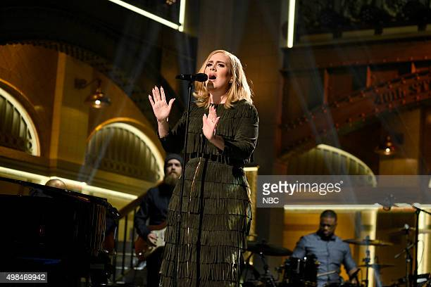LIVE 'Matthew McConaughey' Episode 1689 Pictured Musical guest Adele performs on November 21 2015