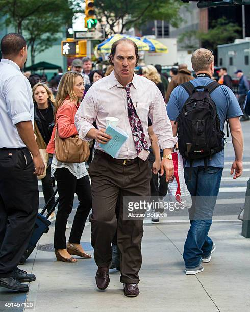 Matthew McConaughey is seen on location for his latest movie 'Gold' on October 5 2015 in New York City