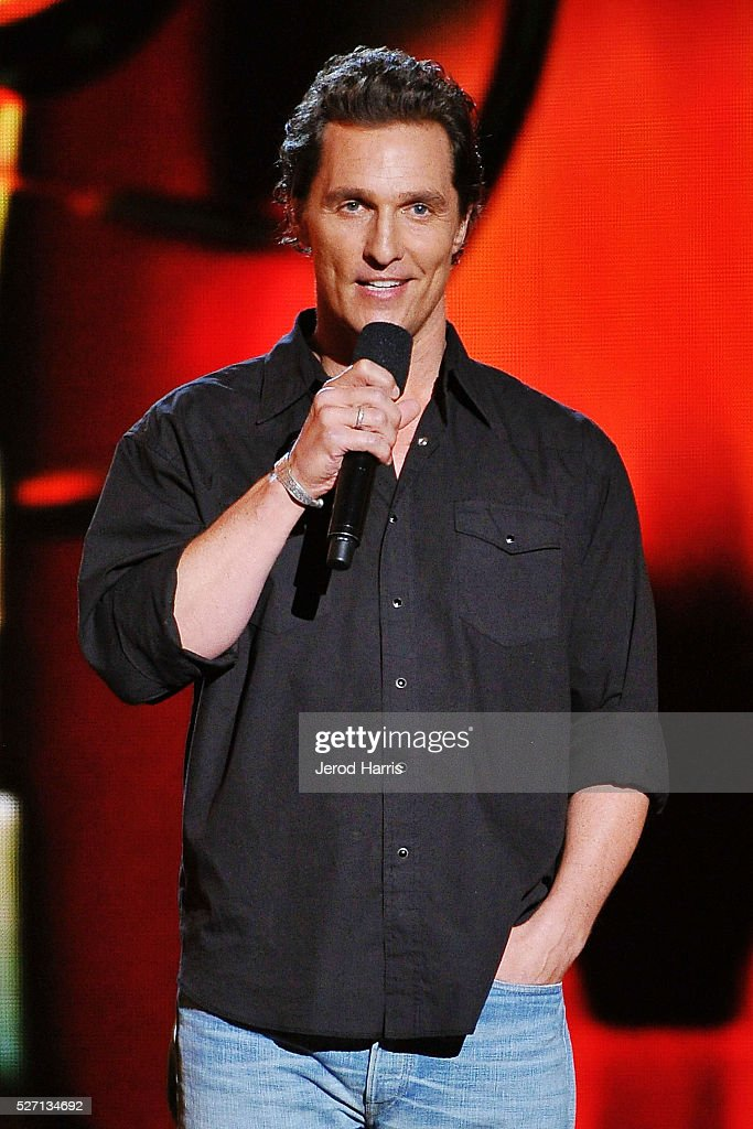 <a gi-track='captionPersonalityLinkClicked' href=/galleries/search?phrase=Matthew+McConaughey&family=editorial&specificpeople=201663 ng-click='$event.stopPropagation()'>Matthew McConaughey</a> on stage at the 2016 American Country Countdown Awards at The Forum on May 1, 2016 in Inglewood, California.