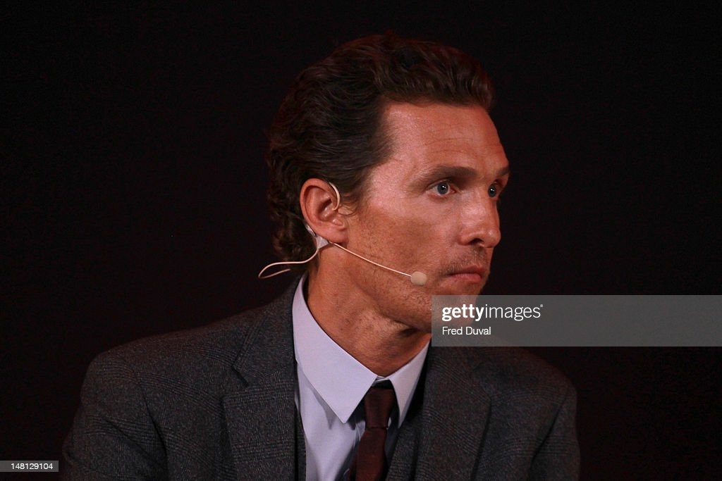 <a gi-track='captionPersonalityLinkClicked' href=/galleries/search?phrase=Matthew+McConaughey&family=editorial&specificpeople=201663 ng-click='$event.stopPropagation()'>Matthew McConaughey</a> promotes his new film 'Magic Mike' at Apple Store, Regent Street on July 10, 2012 in London, England.