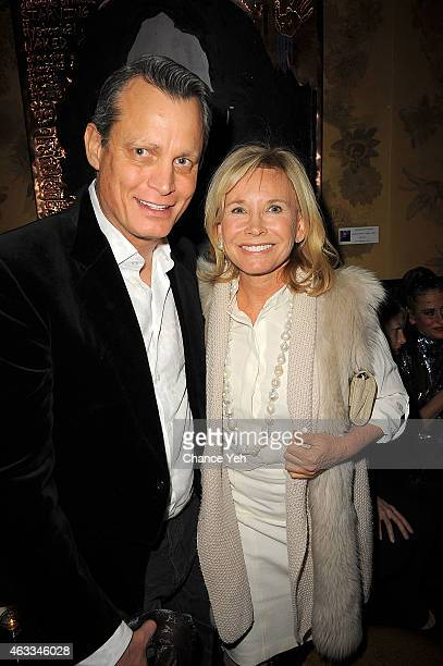 Matthew Mellon and Sharon Bush attends HANLEY MELLON Fall/Winter 2015 Collection Presentation After Party at Beautique on February 12 2015 in New...