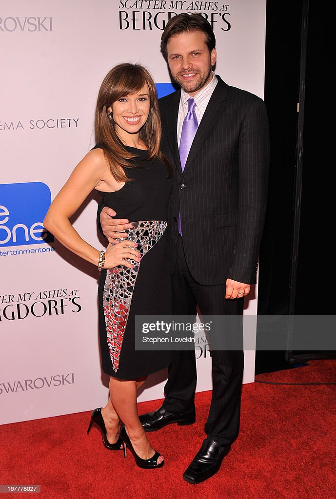 Matthew Miele and Sara Gore attend the Cinema Society with Swarovski & Grey Goose premiere of eOne Entertainment's 'Scatter My Ashes at Bergdorf's' at Florence Gould Hall on April 29, 2013 in New York City.