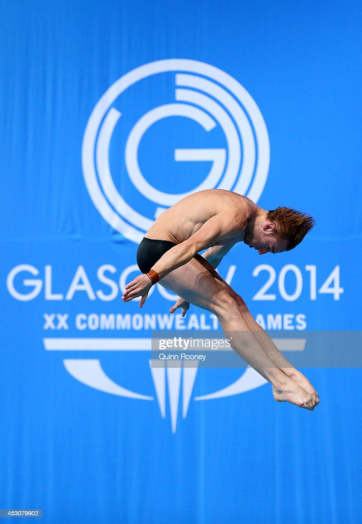 <a gi-track='captionPersonalityLinkClicked' href=/galleries/search?phrase=Matthew+Mitcham&family=editorial&specificpeople=221175 ng-click='$event.stopPropagation()'>Matthew Mitcham</a> of Australia competes in the Men's 10m Platform Final at Royal Commonwealth Pool during day ten of the Glasgow 2014 Commonwealth Games on August 2, 2014 in Edinburgh, United Kingdom.