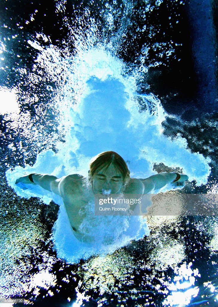 <a gi-track='captionPersonalityLinkClicked' href=/galleries/search?phrase=Matthew+Mitcham&family=editorial&specificpeople=221175 ng-click='$event.stopPropagation()'>Matthew Mitcham</a> of Australia competes in the Men's 10m Platform Final at Royal Commonwealth Pool during day ten of the Glasgow 2014 Commonwealth Games on August 2, 2014 in Edinburgh, United Kingdo
