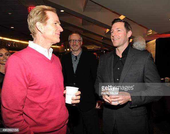 Matthew Modine and Ed Burns attend the TBS / TNT Upfront 2014 at The Theater at Madison Square Garden on May 14 2014 in New York City...