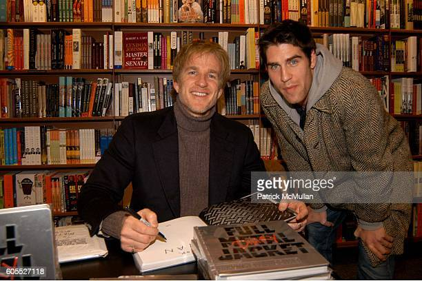 Matthew Modine and Evan Hart attend Matthew Modine Book Signing for FULL METAL JACKET DIARY at Barnes Noble Book Store on January 4 2006 in New York...