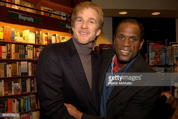 Matthew Modine and John Mosely attend Matthew Modine Book Signing for FULL METAL JACKET DIARY at Barnes Noble Book Store on January 4 2006 in New...