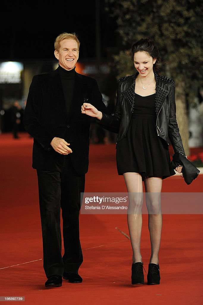 <a gi-track='captionPersonalityLinkClicked' href=/galleries/search?phrase=Matthew+Modine&family=editorial&specificpeople=211363 ng-click='$event.stopPropagation()'>Matthew Modine</a> and Ruby Modine attend 'Bullet To The Head' Premiere at Auditorium Parco Della Musica on November 14, 2012 in Rome, Italy.