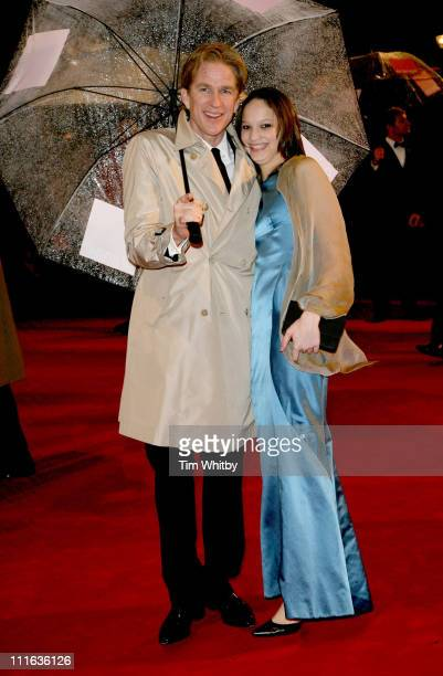 Matthew Modine and Ruby Modine during The Orange British Academy Film Awards 2006 Outside Arrivals at Odeon Leicester Square in London Great Britain