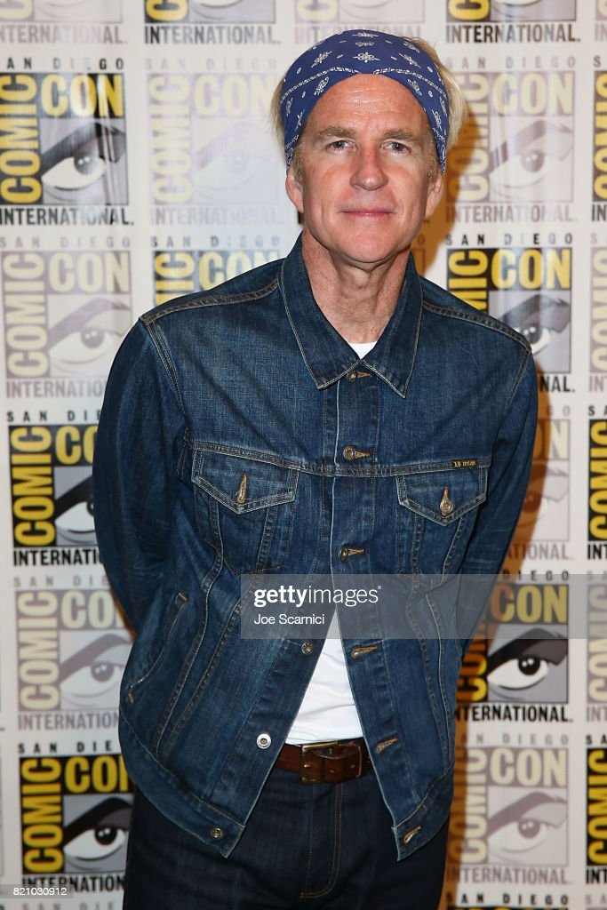 Matthew Modine arrives at the 'Stranger Things' press line at Comic-Con International 2017 on July 22, 2017 in San Diego, California.