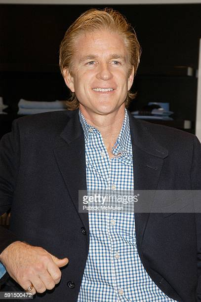 Matthew Modine attends At the David Chu shop at Saks to celebrate Matthew Modine's 'Full Metal Jacket Diary' at David Chu Shop on November 17 2005 in...