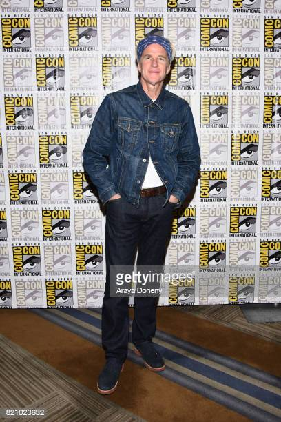 Matthew Modine attends the 'Stranger Things' press conference at ComicCon International 2017 on July 22 2017 in San Diego California