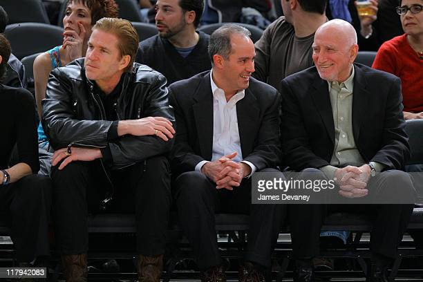 Matthew Modine Dominic Chianese and guest during Celebrities Attend Cleveland Cavaliers vs New York Knicks Game January 28 2005 at Madison Square...